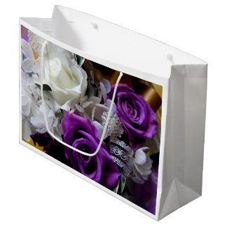 Royal Purple Rose Large Gift Bag