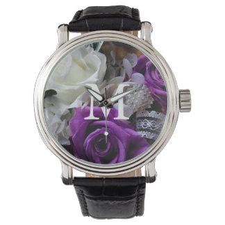 Royal Purple Rose Wrist Watch