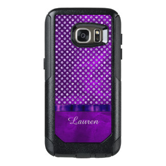 Royal Purple Silver Gem OtterBox Samsung Galaxy S7 Case