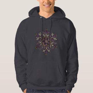 Royal Purple Snow | Customizable Hooded Sweatshirt