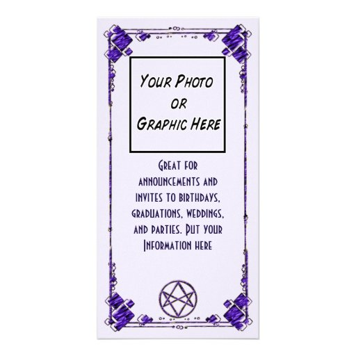 Royal Purple Unicursal Photo Card Template