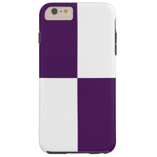 Royal Purple & White Rectangles iPhone 6 Plus Case