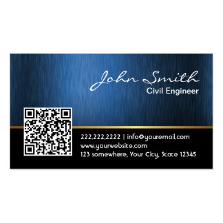 Royal QR code Civil Engineer Business Card