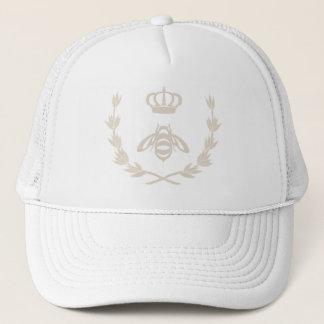 Royal Queen Bee Crown   Linen Beige Trucker Hat