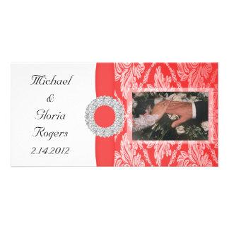Royal Red Damask Set Photo Card