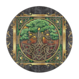 Royal Red Medieval Witchcraft Ritual Occult Alter Cutting Board
