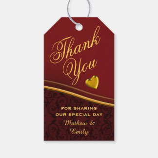 Royal Red Personalized Thank You Wedding Favor Gift Tags