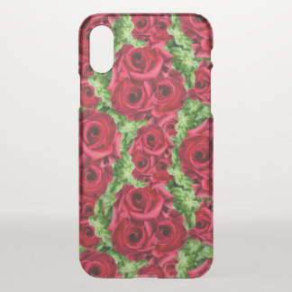 Royal Red Roses Regal Romance Crimson Lush Flowers iPhone X Case
