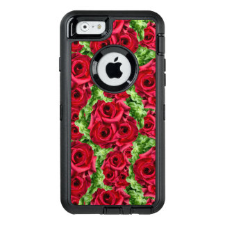 Royal Red Roses Regal Romance Crimson Lush Flowers OtterBox Defender iPhone Case
