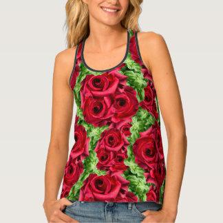 Royal Red Roses Regal Romance Crimson Lush Flowers Tank Top