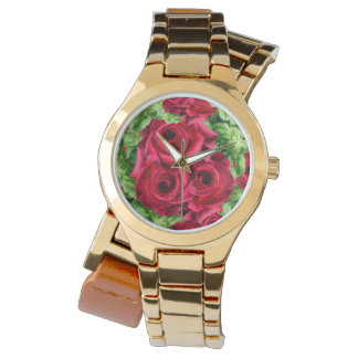 Royal Red Roses Regal Romance Crimson Lush Flowers Watch