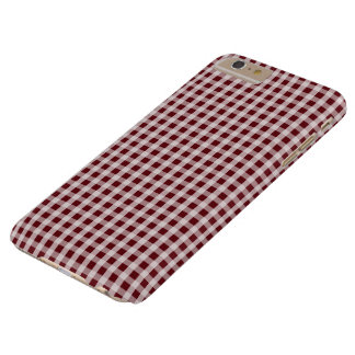 Royal Rose Red Gingham Check Plaid Pattern Barely There iPhone 6 Plus Case