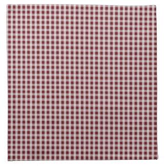 Royal Rose Red Gingham Check Plaid Pattern Cloth Napkin