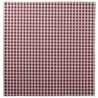 Royal Rose Red Gingham Check Plaid Pattern Napkins