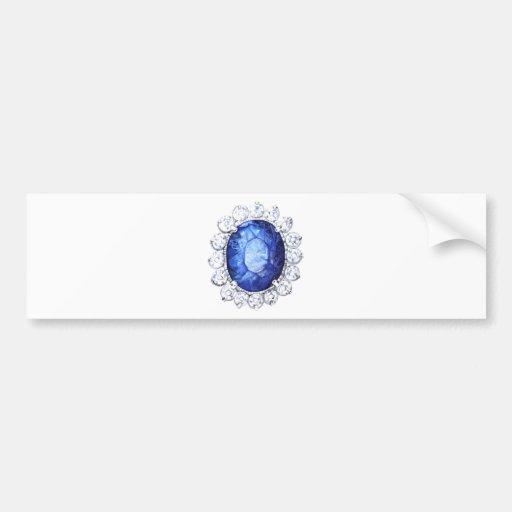 Royal Sapphire Original  Watercolor Bumper Sticker