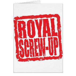 Royal Screw-up stamp Card