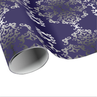 Royal Scroll Linen Wrapping Paper