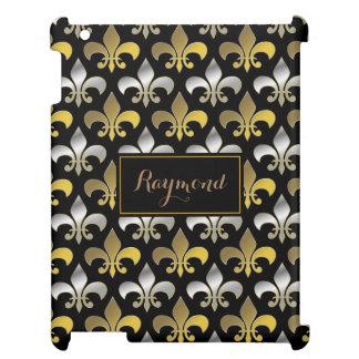 Royal Silver and Gold Fleurs-de-lis iPad Case