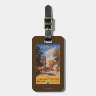 Royal Spa, Street View British Railways Poster Luggage Tag