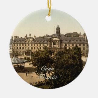 Royal Square, Caen, Basse-Normandie, France Ceramic Ornament