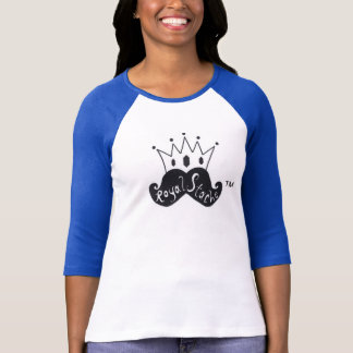 Royal Stache Fitted Women's Baseball T-Shirt