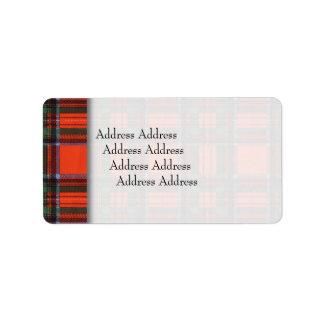 Royal Stewart clan Plaid Scottish tartan