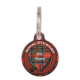 Royal Stewart clan Plaid Scottish tartan Pet Name Tag