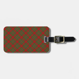 Royal Stewart Clan Tartan Designed Print Luggage Tag