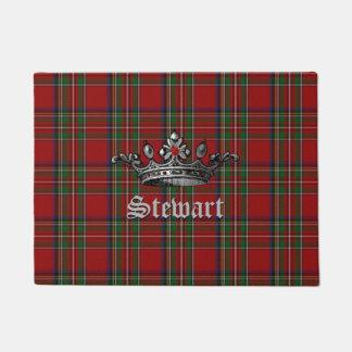 Royal Stewart Crown Personalized Door Mat