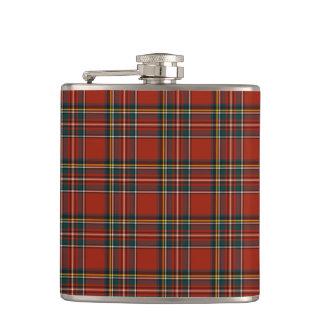 Royal Stewart Family Tartan Classic Red Plaid Hip Flask