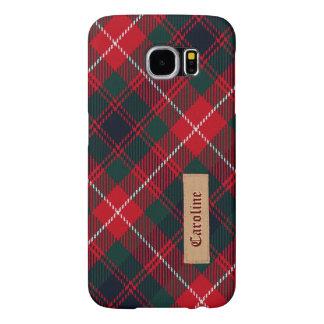 Royal Stewart Girly Tartan Pattern - Fabric Look Samsung Galaxy S6 Cases