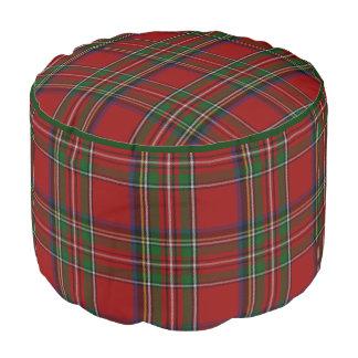 Royal Stewart Plaid Pouf Seat