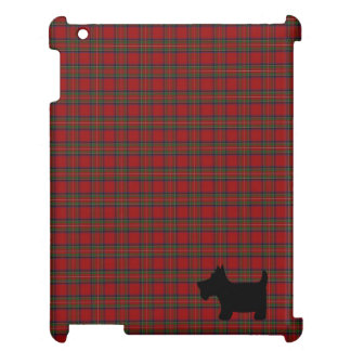Royal Stewart Plaid & Scottie Dog Silhouette iPad Case
