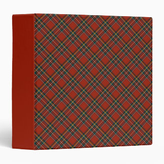 Royal Stewart Red and Blue Scottish Clan Tartan Binder