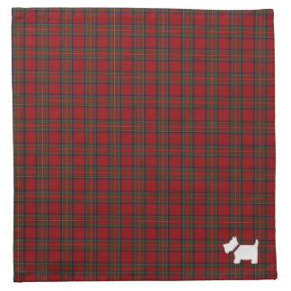 Royal Stewart / Stuart Tartan Plaid Pattern Napkin