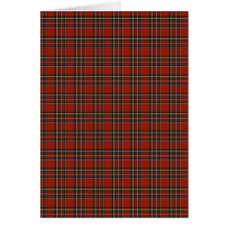 Royal Stewart Tartan Card