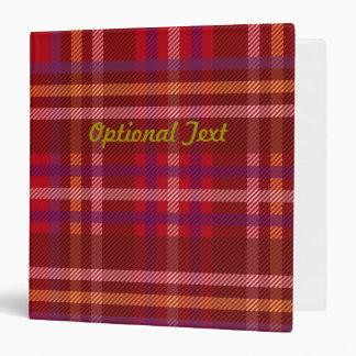 Royal Stewart Tartan Christmas Pattern Binder