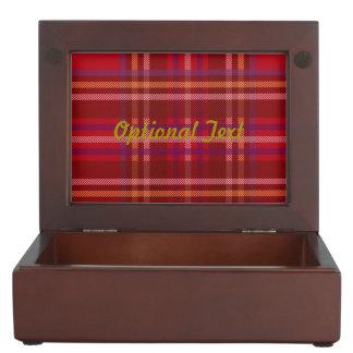 Royal Stewart Tartan Christmas Pattern Keepsake Box