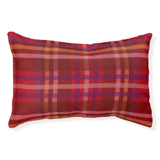 Royal Stewart Tartan Christmas Pattern Pet Bed