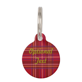 Royal Stewart Tartan Christmas Pattern Pet ID Tag