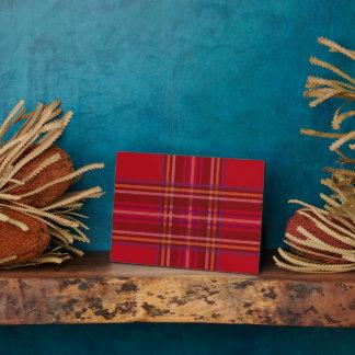 Royal Stewart Tartan Christmas Pattern Plaque