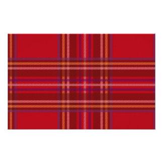 Royal Stewart Tartan Christmas Pattern Stationery
