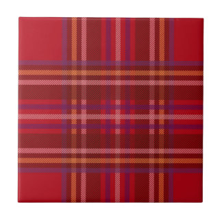 Royal Stewart Tartan Christmas Pattern Tile