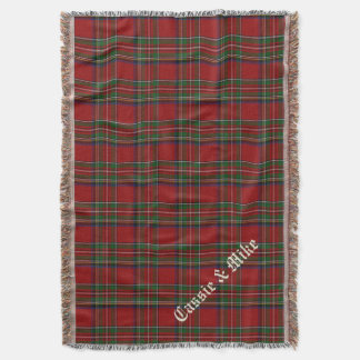 Royal Stewart Tartan Plaid Custom Throw Blanket