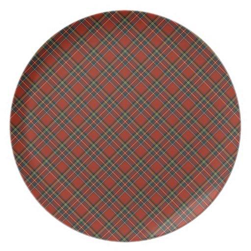 Royal Stewart Tartan Plate