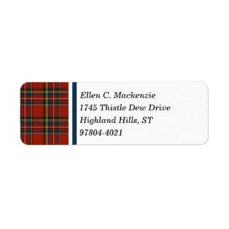 Royal Stewart Tartan Return Address Label