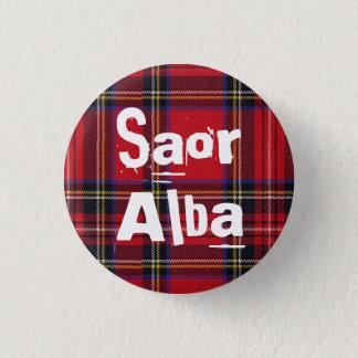 Royal Stewart Tartan Saor Alba Scotland Pinback 1 Inch Round Button