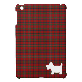 Royal Stewart Tartan & Scottie Dog Silhouette iPad Mini Cases