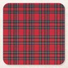 Royal Stewart Tartan Square Paper Coaster