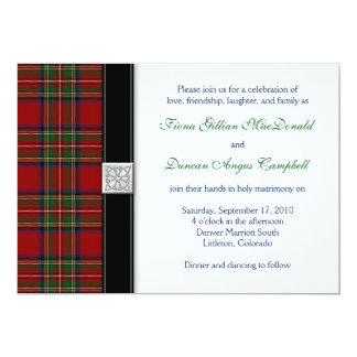 Royal Stuart Tartan Scottish Wedding Invitation